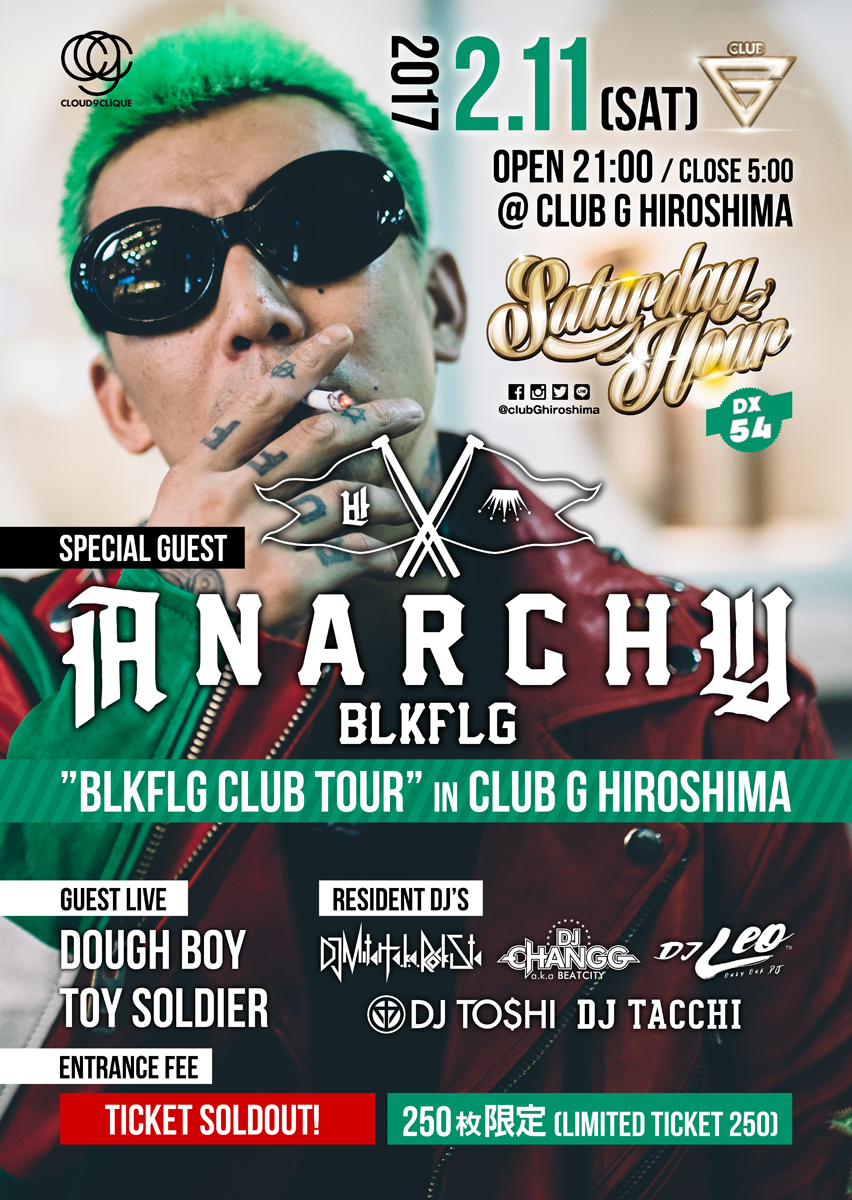ANARCHY BLKFLG CLUB TOUR 広島